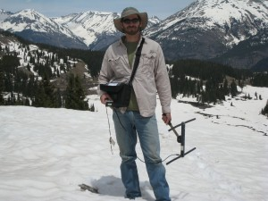 Jonah working on a lynx project in Colorado