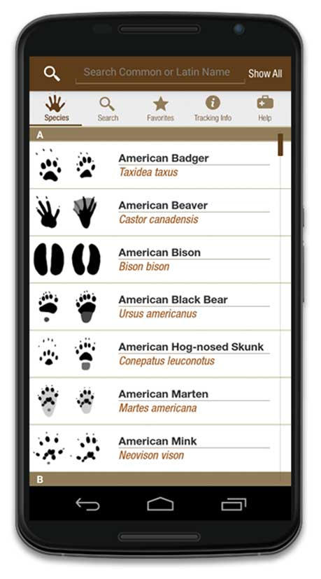 iTrack Wildlife Android App