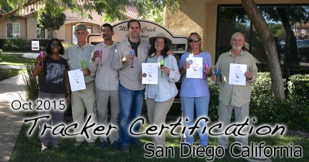 San Diego Tracker Certification 10/22/2015