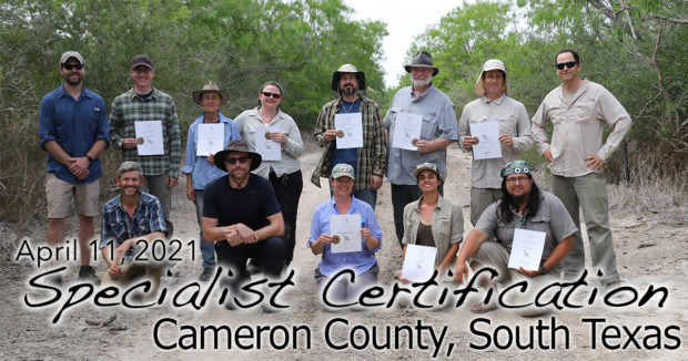 South TX Specialist Certification 4/11/2021